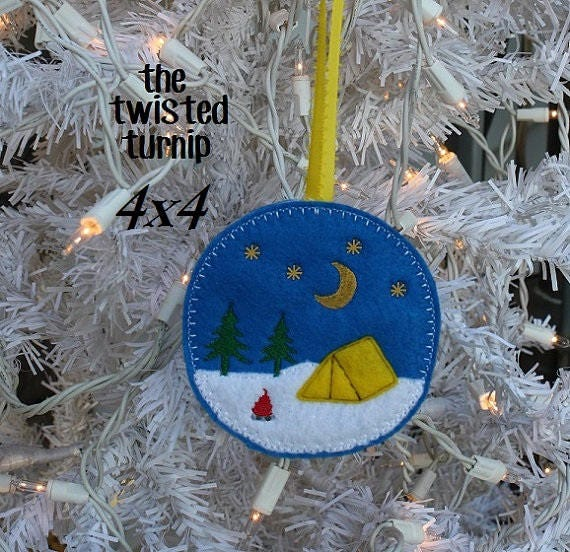 C&ing Tent Tents C&fire Night Stars Moon Felt Ornament Embroidery Design Digital Instant Download 4x4 Hoop from TwistedTurnipShop on Etsy Studio & Camping Tent Tents Campfire Night Stars Moon Felt Ornament ...