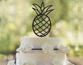 Pineapple Silhouette Cake Topper Fruit Custom Wedding Anniversary