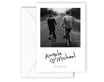 Printable Save The Date Card, Wedding Invitation, Wedding Announcement, Simple Invite, Modern & Minimal Save The Date Card [04]
