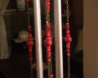 Red Hot Heart Wind Chimes