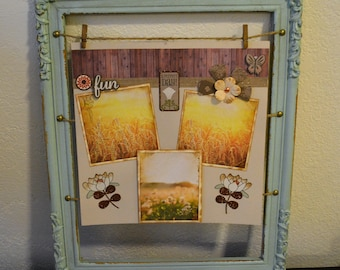 Outdoor scrapbook layouts, Premade scrapbook pages, One page layout, Floral layouts, 12 x 12 scrapbook layouts, Finished layouts