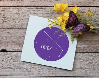 Zodiac Sign Vinyl Decal | Aries