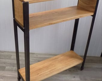 Skinny, Entry, Sofa, Console Table / Modern / Industrial / Rustic / Small / Display / Shelf / Wood / Steel
