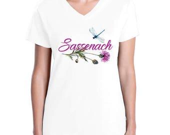 Sassenach Dragonfly Thistle t-shirt