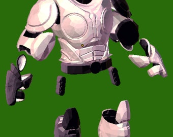 Gears of War onyx guard armor suit rreplica 3-D patterns for pepakura to build your own
