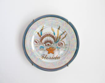 Vintage Florida Plate, Coastal Wall Decor, Florida Souvenir