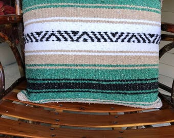 Pillow cover made from Mexican blanket