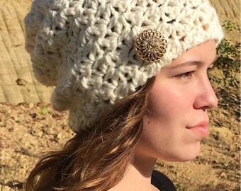 Slouch Hat Crochet Pattern/ Hats for Women/ Crochet Hats/ Slouchy Beanie/ Slouch Hat Pattern/ Slouchy Hat/ Slouch Hat Crochet/ Slouch Hat