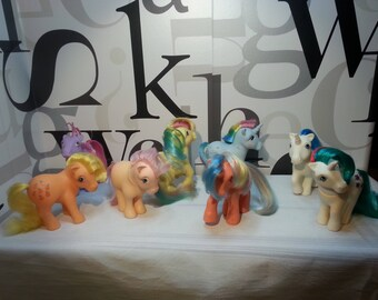 Vintage My Little Pony  G1 Collectible figures  Set of 8  SAVE 15% & FREE SHIPPING