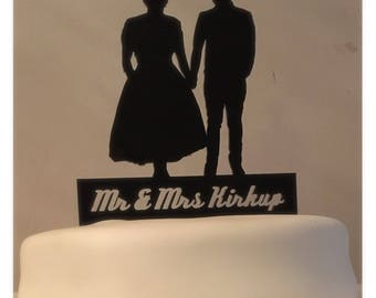 Use Your Own Silhouette Cake Topper, Your Silhouette, Custom Cake Topper, Personalised Wedding Cake Topper, Wedding Cake Decoration