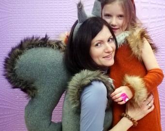 Adult squirrel costume /Squirrel Costume / Squirreldress up /Squirrel women costume/ handmade costume / Halloween costume