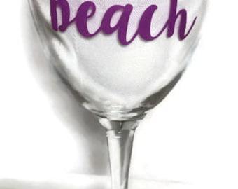 Wine Glass - No One Likes a Shady Beach
