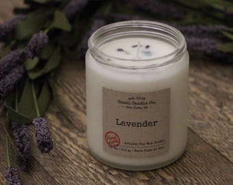 Lavender Scented Candles, Eco Friendly, Vegan Soy Candle, Essential Oil Soy Candles, Vegan Gift, Wedding Gift, Gift for Her