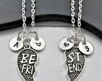 Best Friend Necklaces for 2 - Distance Friendship - Set of 2 - Best Friends Matching Necklaces - My Best Friend Necklace - Personalized