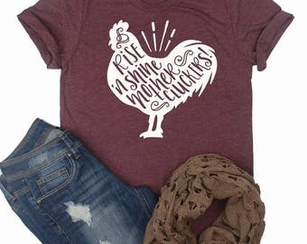 Rise N Shine Mother Cluckers Tee // Farm Shirt // Country Shirt