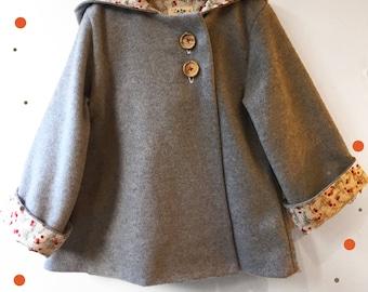 Coats girl hoodie with rabbit ears