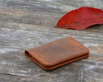 Personalized Leather Wallet Groomsmen Gift  Minimalist Leather Wallet slim wallet Men's Cardholder