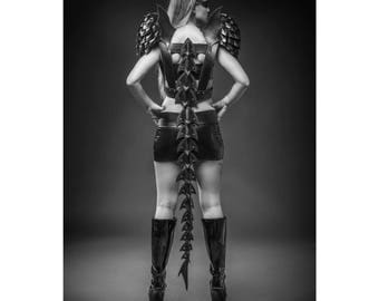 Leather tail harness