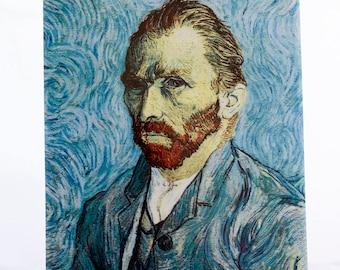Self-portrait-Vincent van Gogh/copy on ceramics