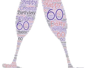 Happy 60th Birthday! Celebrate Turning 60 With a Champagne Toast! Humorous Coffee Mug for The Cool Woman in Your Life!