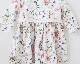 Winter Dress, Girl clothes, Dress, Floral dress, Clothes girl, Baby girl floral dress, Baby girl winter dress, Girl winter dress, Baby dress