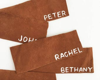 Genuine Leather Place Cards