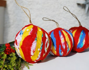 Three Christmas balls set three Christmas balls
