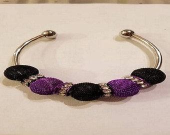 Purple & Black Bangel Bracelet