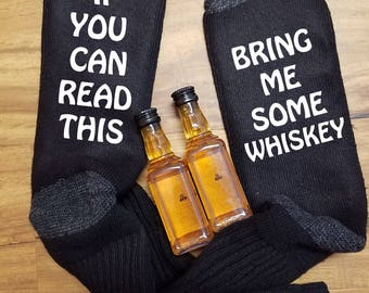 Bring Me Beer Socks, Bring Me Beer, If You Can Read, Whiskey Socks, Beer Socks,  Bring Me Whiskey socks, Dad Socks, Stocking Stuffer, Socks