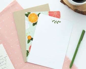 Fresh Citrus Stationery