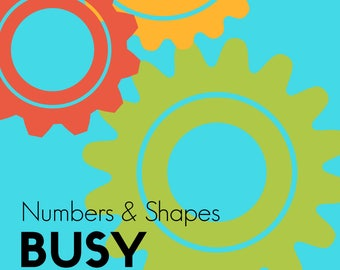 Busy Binder Numbers And Shapes Educational Bundle Download