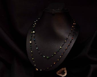 Multi beads necklace fine Kiabate