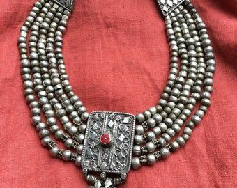 Old silver necklace from Jemen
