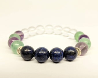 ADHD bracelet//Healing Crystal bracelet//Focous//Concentration//calming bracelet//therapeutic//Hyperactivity//Mental Health//study support