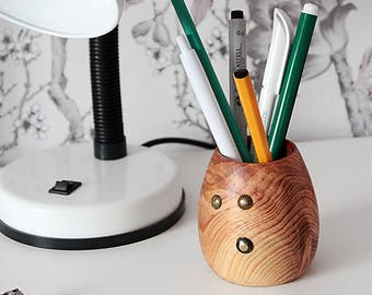 Pencil Cup, Pencil Holder, Pen Holder, Desk Organizer, Wood Pencil Holder, Wooden Pen Holder, Desk Accessories, Office Decor, Gift for Him