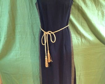 Alfred Shaheen Vintage Grecian Dress Floor Length