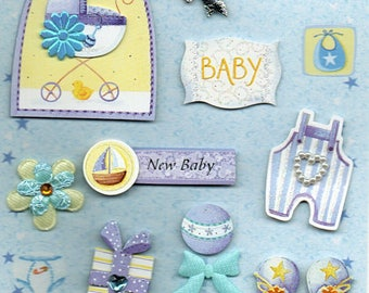 Baby Boy 3d Stickers Scrapbook Embellishments Cardmaking Crafts