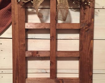 6 Pane Handmade Window Frame Primitive Country Wall Decor With Primitive  Pip Garland Decor For Living