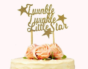 Twinkle Twinkle Little Star Cake Topper, Baby Shower, Star Themed Party, Twinkle Twinkle Little Star Party, 1st Birthday Cake, Gender Reveal