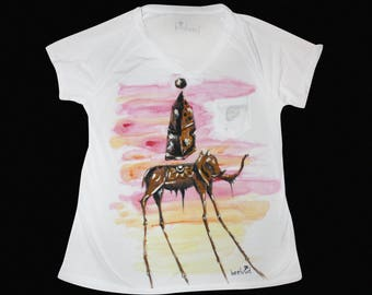 Abstract shirt, Salvador Dali, abstract art,Dali, Salvador Dali Elephant, elephant shirt, Custom shirts, Custom shirts women, T shirt custom