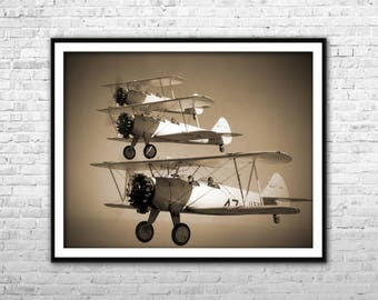Aviation Wall Decor airplane canvas | etsy