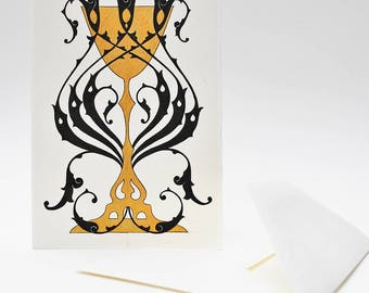 Gold Chalice Hand-Painted Card to Keep