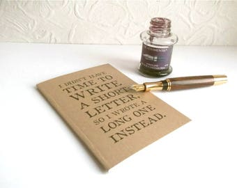 Address Book for Letter Writers   Mark Twain Quote Gift for Penpal   A-Z Index Book & Birthday Book   Recycled Kraft A6 Contact Address Book
