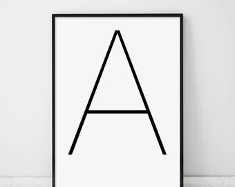 Wall Art Letters letter wall art | etsy