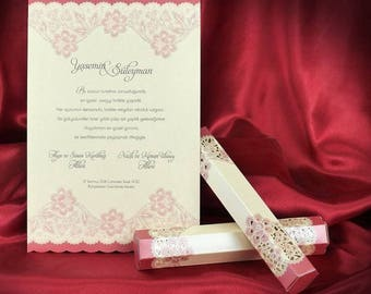 Scroll Wedding Invitation Card, Ivory Scroll Invitations In Box, Beautiful  Roll Invites, Personalized