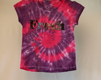 Size 4  - Fresh - Ready To Ship - Girls - Children - Kids - Iced Tie Dyed T-shirt - 100% Cotton - FREE SHIPPING within Aus