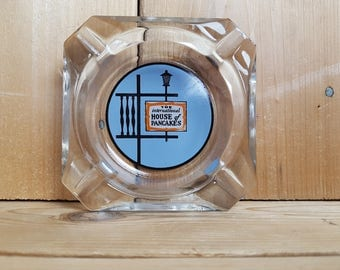 The International House Of Pancakes IHOP Vintage Ashtray Glass Souvenir Cigarette Smoking Break Gift for Smoker 80s