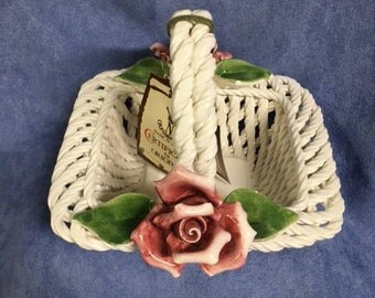 Capodimonte - Woven Porcelain Basket - Squared
