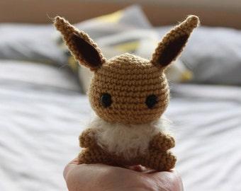 Eevee Amigurumi. Crochet Pokemon. Stuffed toy plushie