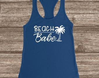 Beach Tank - Beach Babe Women's Racerback Tank - Beach Babe Tank Tops - Tanks for Beach Trip - Beach Lover